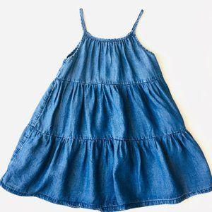 Tiered Swing Chambray Dress